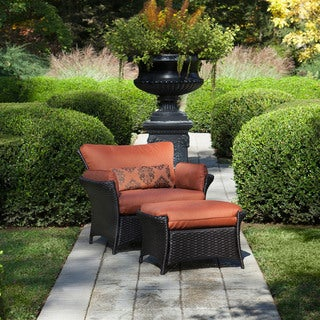 Hanover Outdoor Strathmere Allure 2-piece Armchair and Ottoman Set