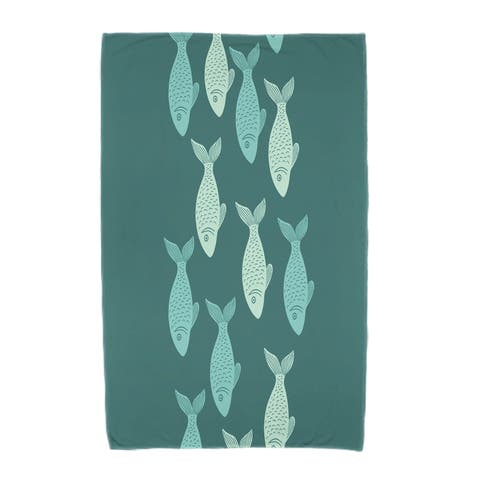 36 x 72-inch Fish Line Animal Print Beach Towel