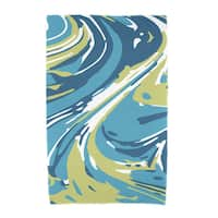 30 x 60-inch Marble Blend Geometric Print Beach Towel