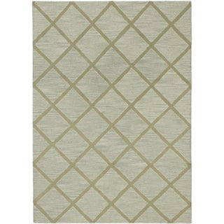 Ecarpetgallery Kasbah Grey/Green Cotton/Wool Handmade Rug (5'0 x 6'10)