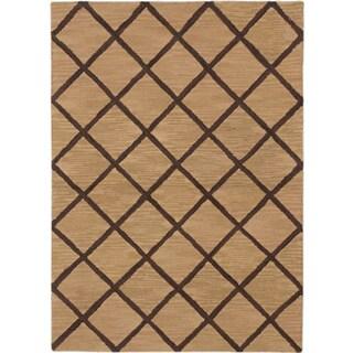 eCarpetGallery Kasbah Brown/Ivory Wool Handmade Rug (5' x 6'10)