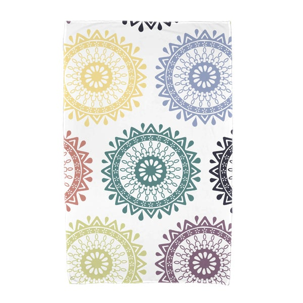 30 x 60-inch Groovy Geometric Print Beach Towel