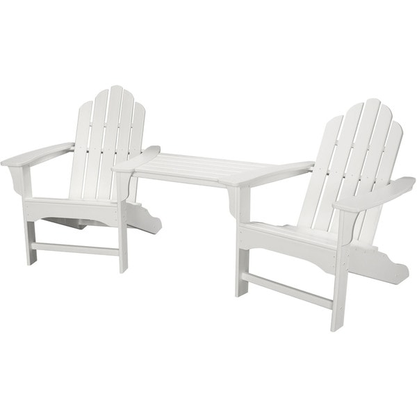 Ordinaire Hanover Outdoor Rio 3 Piece White All Weather Adirondack Chair Set