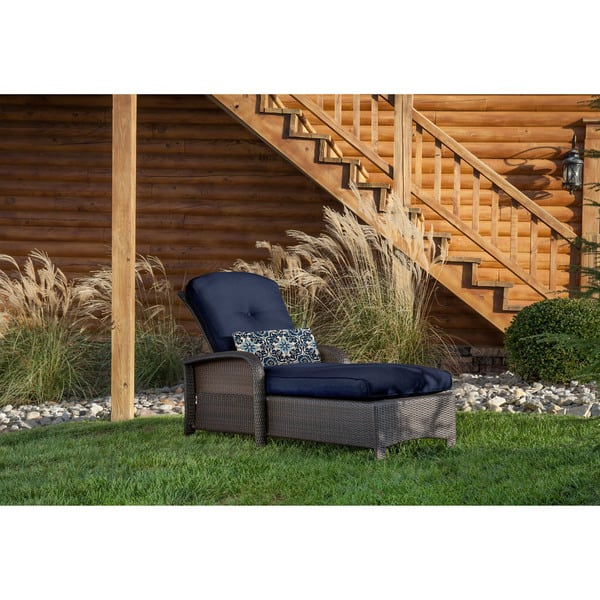 Strange Shop Hanover Outdoor Strathmere Navy Blue Steel Chaise Ocoug Best Dining Table And Chair Ideas Images Ocougorg