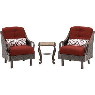 Hanover Ventura Red Resin Outdoor Three-Piece Seating Set
