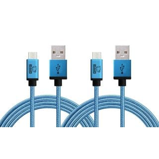 Rhino 3.3-foot Certified Single Micro USB Cable for Samsung, Nexus, LG, Motorola, Android Smartphones, and More - 2 PK