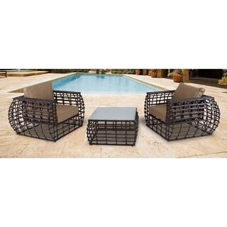 Hanover Outdoor Soho Tan Wicker Outdoor 3-piece Lounge Set