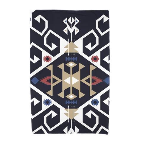 36 x 72-inch Jodhpur Medallion Geometric Print Beach Towel
