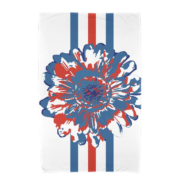 30 x 60-inch Flower Child Floral Print Beach Towel