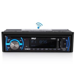 Pyle PLMRB29B Wireless Bluetooth In-dash Stereo Radio Headunit Receiver|https://ak1.ostkcdn.com/images/products/12067883/P18936086.jpg?impolicy=medium