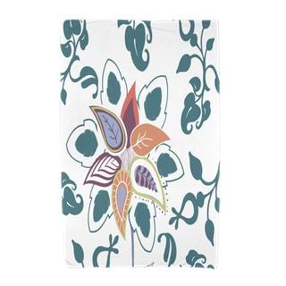 30 x 60-inch Paisley Pop Floral Print Beach Towel