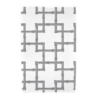 30 x 60-inch Bamboo 2 Geometric Print Beach Towel (Option: Gold)
