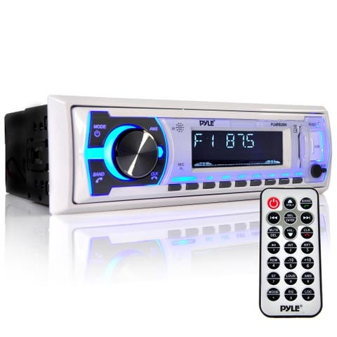 Pyle PLMRB29W Bluetooth In-dash Stereo Radio Headunit Receiver