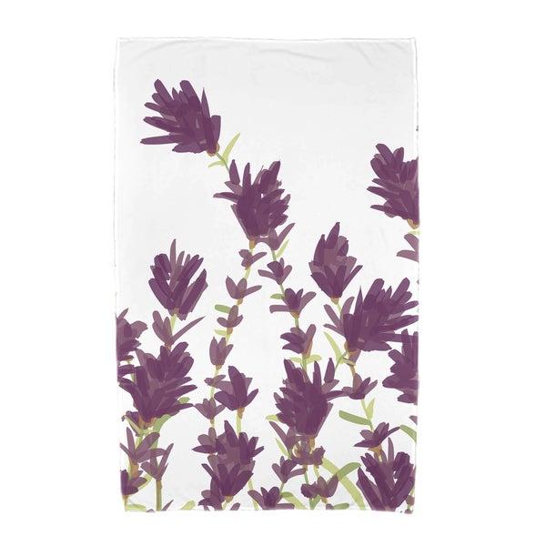 30 x 60-inch Lavender Floral Print Beach Towel