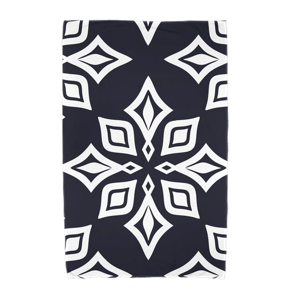 30 x 60-inch Beach Star Geometric Print Beach Towel