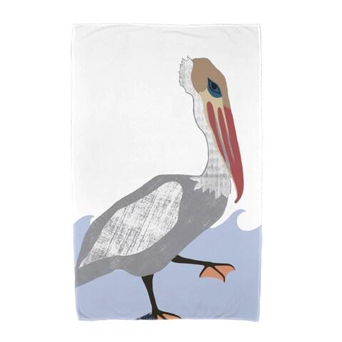 30 x 60-inch Bird Wave Animal Print Beach Towel