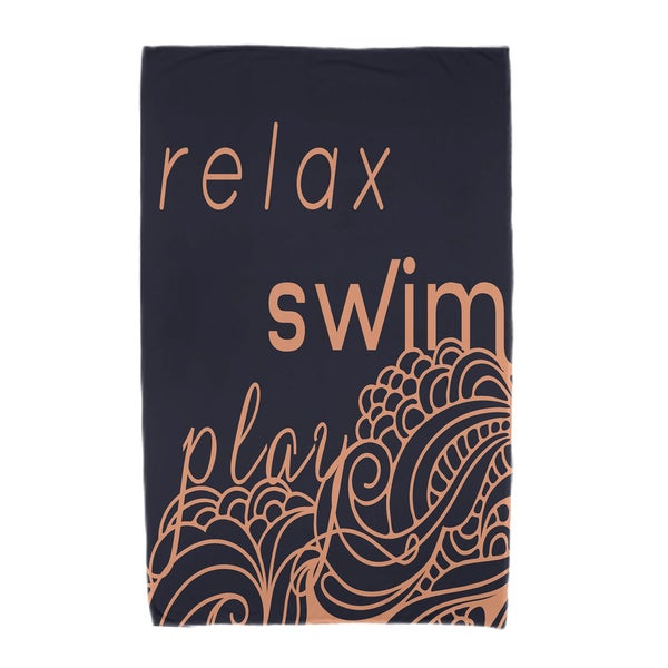 30 x 60-inch Mellow Mantra Word Print Beach Towel