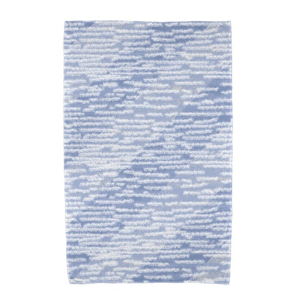 30 x 60-inch Marled Knit Stripe Geometric Print Beach Towel