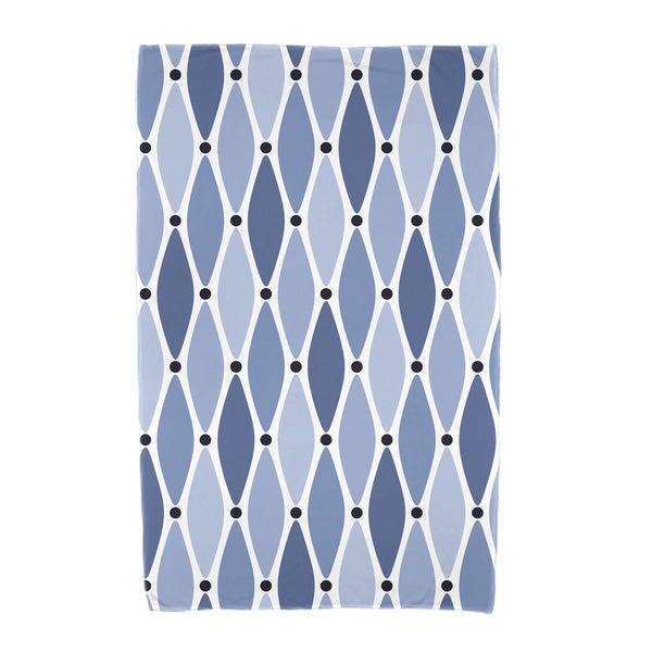 30 x 60-inch Wavy Geometric Print Beach Towel
