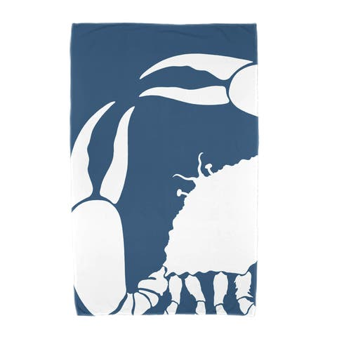 36 x 72-inch Crab Dip Animal Print Beach Towel