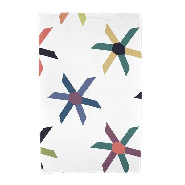 30 x 60-inch Pinwheel Pop Geometric Print Beach Towel