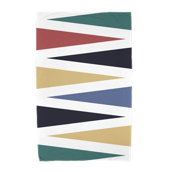 30 x 60-inch Backgammon Geometric Print Beach Towel