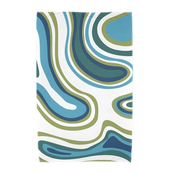 30 x 60-inch Agate Geometric Print Beach Towel