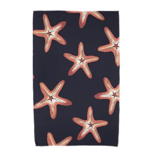 30 x 60-inch Soft Starfish Geometric Print Beach Towel