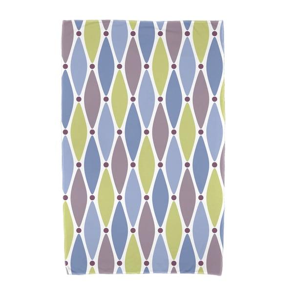 30 x 60-inch Wavy Splash Geometric Print Beach Towel