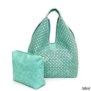 Ampere Creations Laser Cut Vegan Leather Hobo Handbag (3 options available)