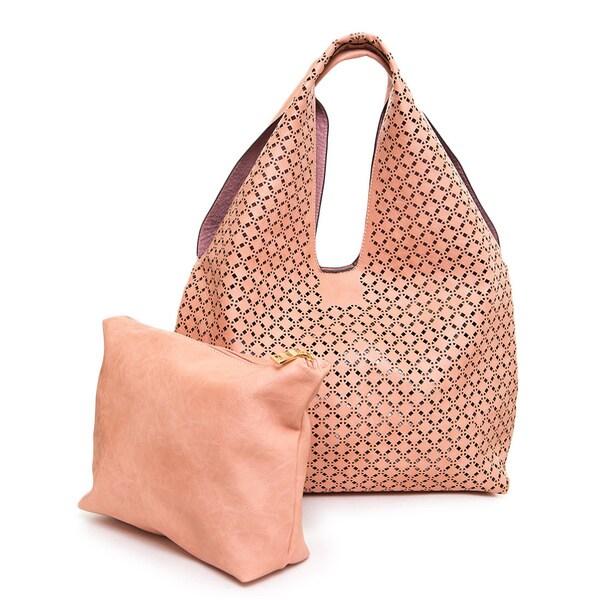 Ampere Creations Laser Cut Vegan Leather Hobo Handbag