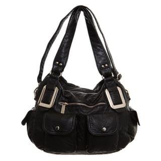 Ampere Creations Mandy Vegan Leather Satchel/Shoulder Handbag|https://ak1.ostkcdn.com/images/products/12067964/P18936162.jpg?impolicy=medium