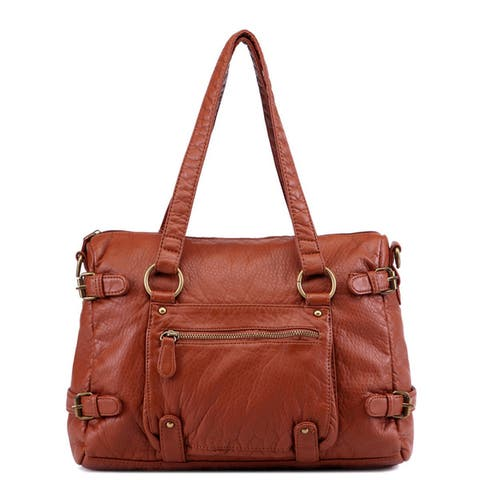 Ampere Creations Clarrisa Faux Leather 2-way Shoulder Tote Handbag