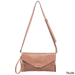 Ampere Creations Laser Cut Faux Leather Vegan Crossbody Handbag
