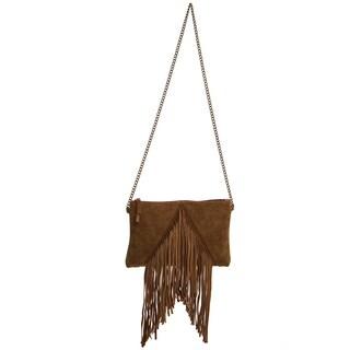 Ampere Creations Pauline Fringe Faux Leather Vegan Crossbody Handbag