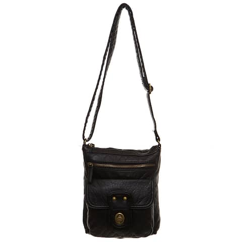 Ampere Creations Stacy Faux Leather Vegan Crossbody Handbag