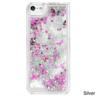 Liquid Glitter Quicksand Multicolor Phone Cases for iPhone 5/5S (Option: Silver)