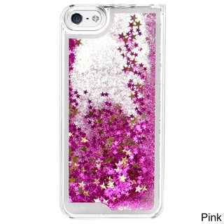 Liquid Glitter Quicksand Multicolor Phone Cases for iPhone 5/5S (Option: Pink)