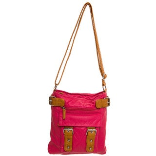 Ampere Creations Two-tone Vegan Leather Crossbody Handbag