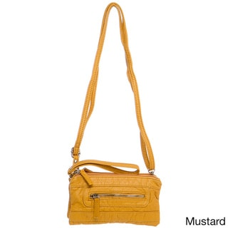 Ampere Creations Classic Three-way Vegan Leather Crossbody Handbag
