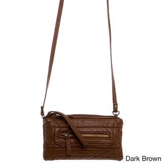 Ampere Creations Classic Three-way Vegan Leather Crossbody Handbag (More options available)