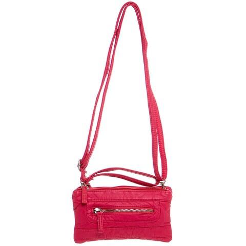 Ampere Creations Classic Three-way Vegan Leather Crossbody Handbag
