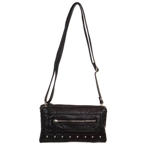 Ampere Creations Malie Faux Leather Three-way Wristlet/Clutch/Crossbody Handbag