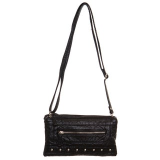 Ampere Creations Malie Faux Leather Three-way Wristlet/Clutch/Crossbody Handbag (5 options available)