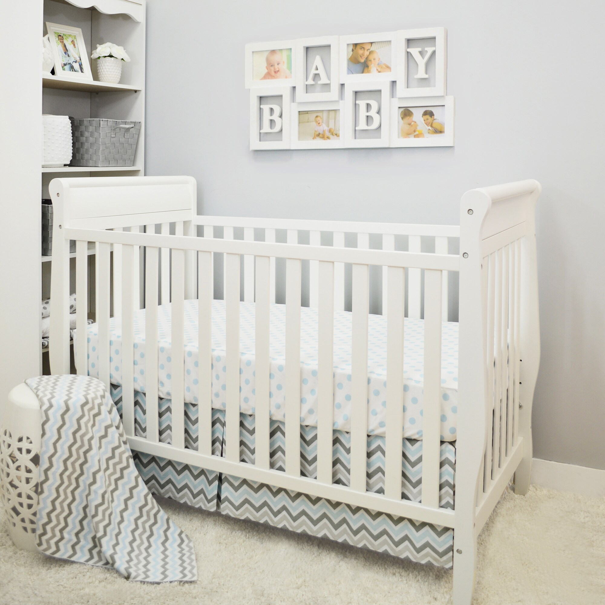 AMERICAN BABY COMPANY (ABC) Baby Chevron Crib Bedding Set...