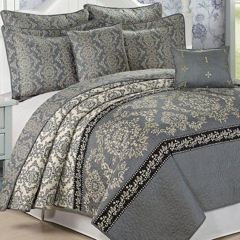 Serenta Mystic Printed Reversible 7 Piece Quilt Bedspread Coverlet Set