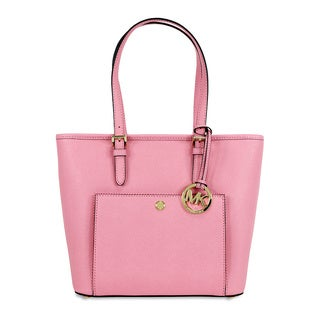 Michael Kors Jet Set Saffiano Pink Leather Top-zip Tote Bag
