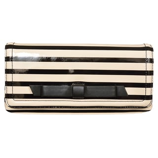 Kate Spade Chelsea Park Keira Black/Cream Striped Clutch