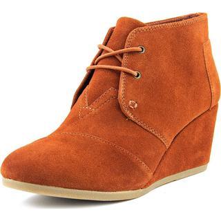 Toms Women's Desert Wedge Regular Suede Dress Shoes