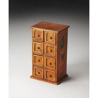 Butler Nina 8-drawer Crackled Finish Solid Mango Wood Jewelry Case